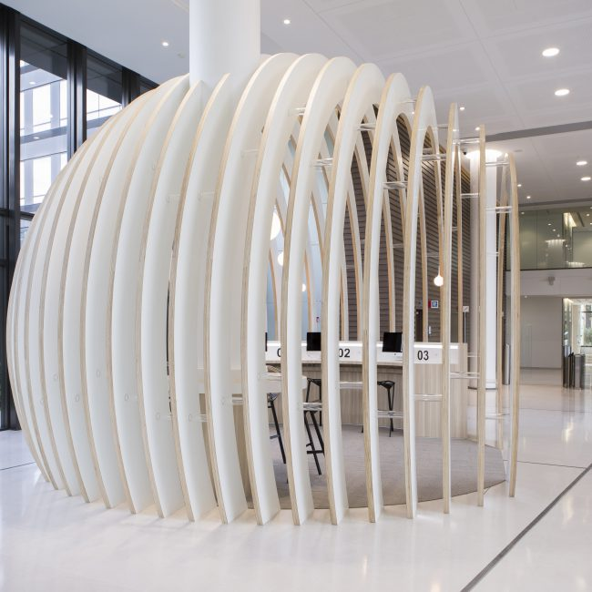 Design and delivery of a reception area - GENERALI - France