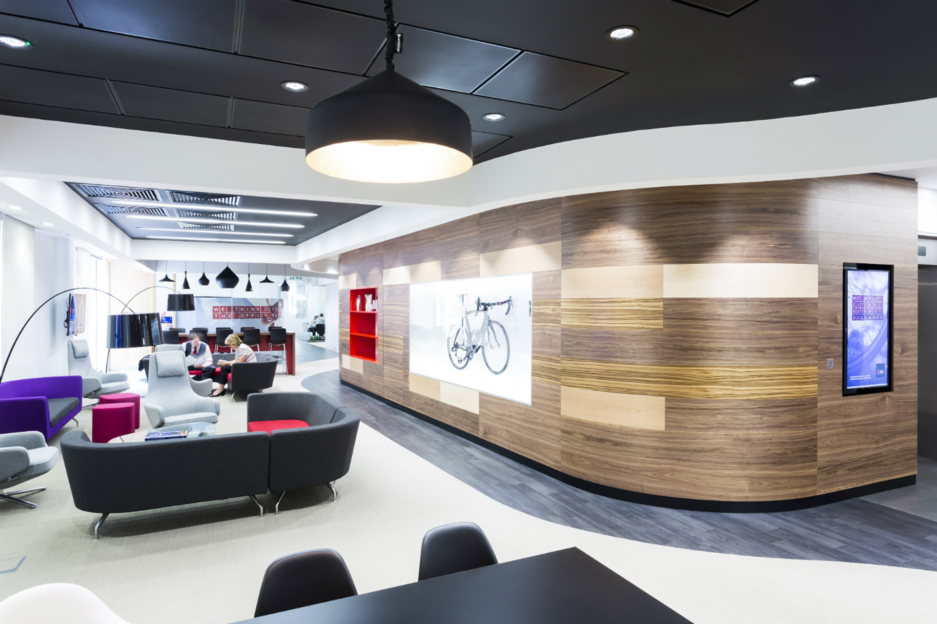 professional office design. office design and fitout for professional services firm jll united kingdom