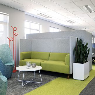 Colourful neighbourhoods office fit-out - AIG - South Africa