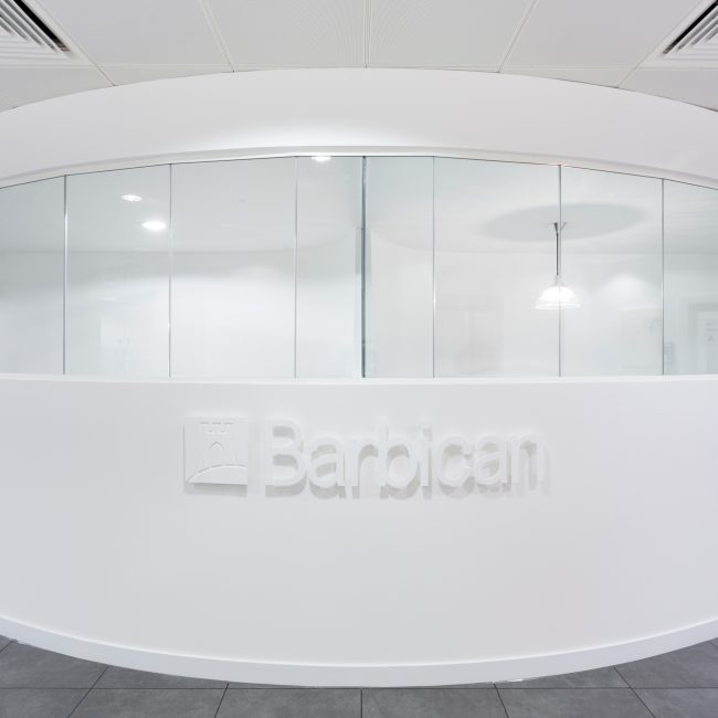 Contemporary office design and fit-out of new HQ - Barbican Insurance - United Kingdom