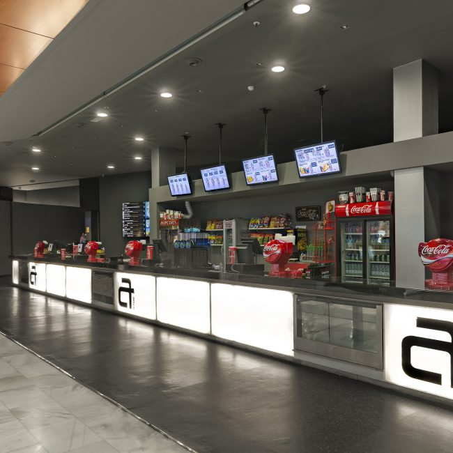 Cinema´s franchise design & build - Cines Artesiete - Spain
