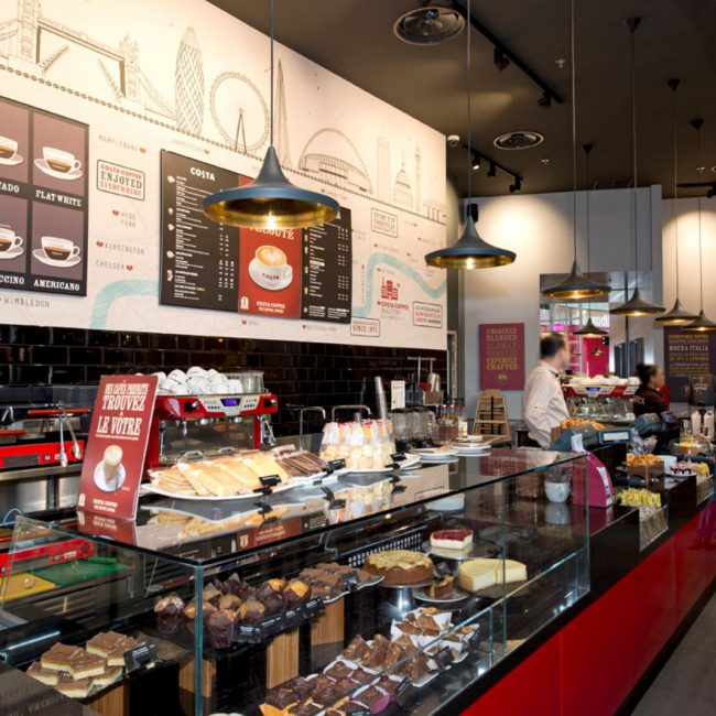Réalisation de 18 coffee-shop - COSTA COFFEE - France
