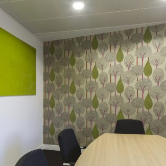 Vibrant office fit-out - DBG - United Kingdom