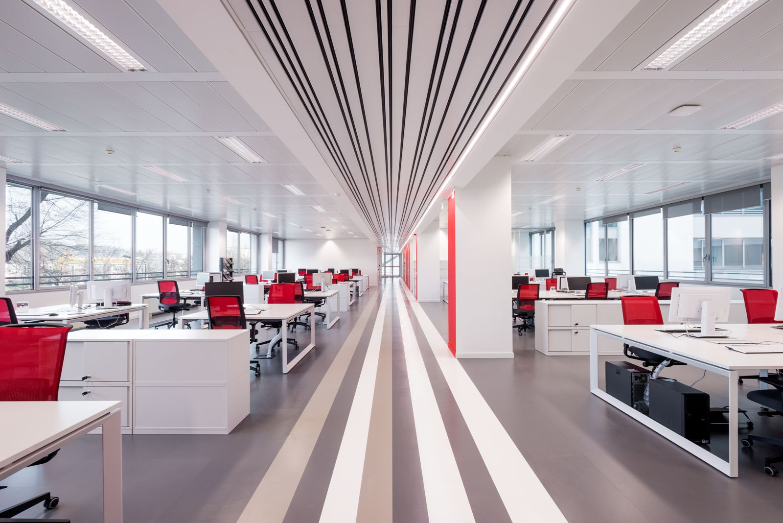 A creative office design for a tech company tetris db for Company design