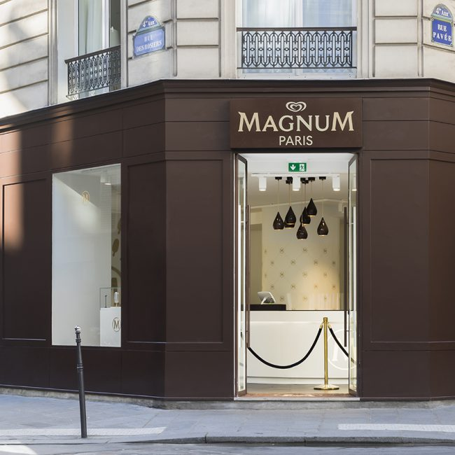 Réalisation d'un pop-up store à Paris - Magnum - France