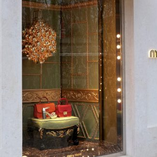 Construction works for a new luxury street store  - Miu Miu - Portugal