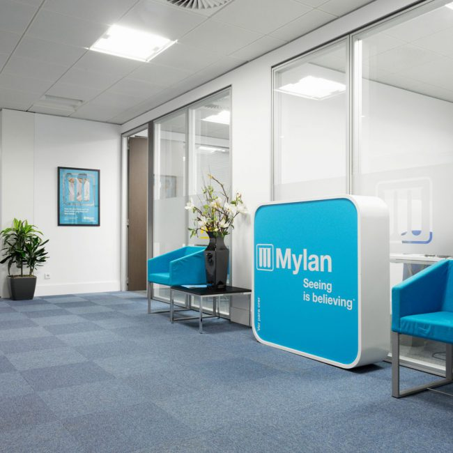 Turn-key project of offices interior - MYLAN - Portugal