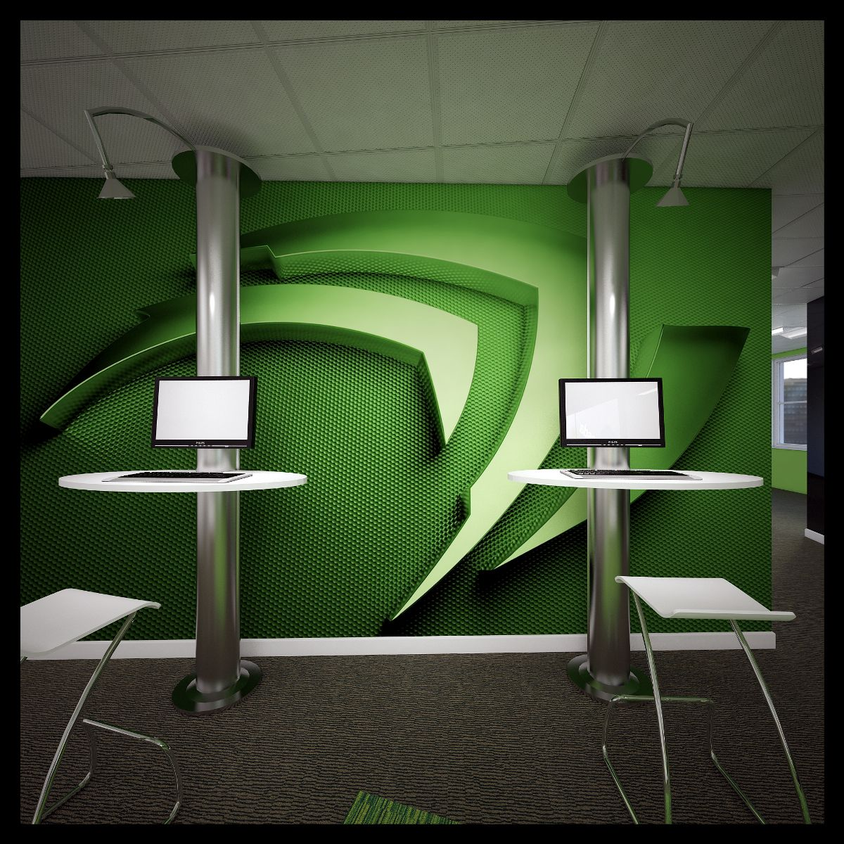 Office design and fit-out - NVIDIA - United Kingdom