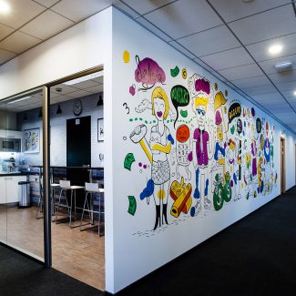 Fit-out of office facilities for various companies with one group - Ringier Axel Springer - Poland