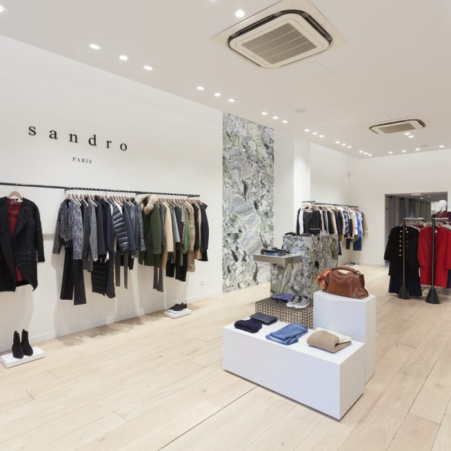 Delivery of a store in Lyon - SANDRO - France