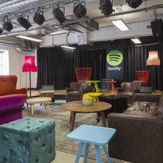 Office fit-out for leading start up - Spotify - UK