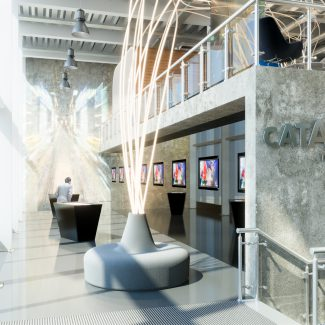 Contemporary office fit-out of new HQ - Transport Systems Catapult - United Kingdom