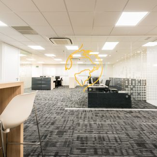 Office fit refurbishment for comm. Company - US Telecom Company - Spain