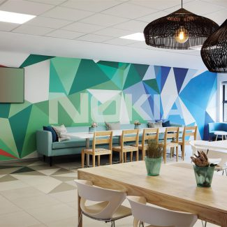 Visually striking and purposeful corporate office for Nokia